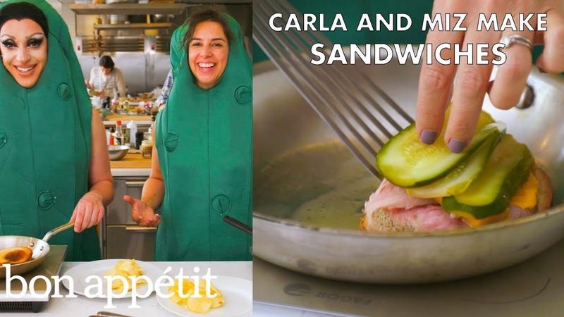 Miz Cracker and Carla Make Friendly Sandwiches | From the Test Kitchen | Bon Appétit