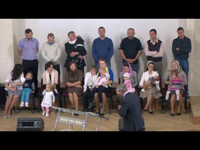 Благословение детей Vaikų palaiminimas Церковь Библейский Путь Bažnyčia Biblijos Kelias