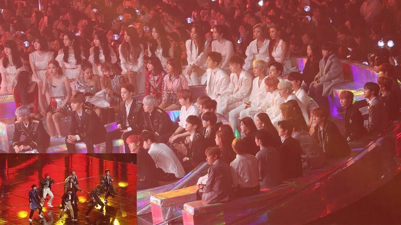 181201 IDOLS Reaction to BTS IDOL (방탄소년단 무대 보는 블랙핑크,워너원,여자친구,마마무,아이