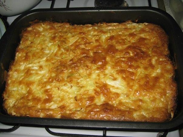 Капустный пирог для ленивых рецепт на кефире