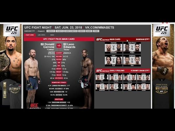 Прогноз и аналитика боев от MMABets UFC FN 132 Педро-СенПрю, Серроне-Эдвардс. Выпуск №97. Часть 66
