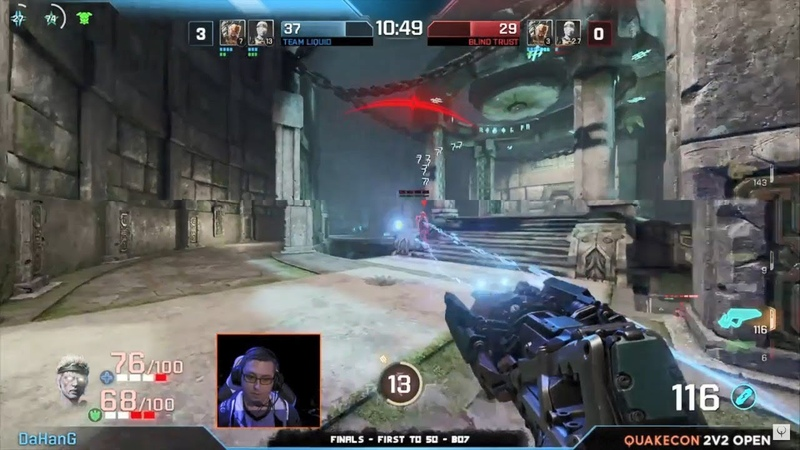 Rapha DaHanG vs. Clawz Toxjq (Final, QuakeCon 2018) – Quake Champions