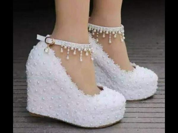 أجمل كولكشن أحذية زفاف للعرائس بيضاء لزفا16