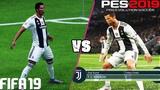 FIFA 19 vs. PES 2019 Celebrations 4K