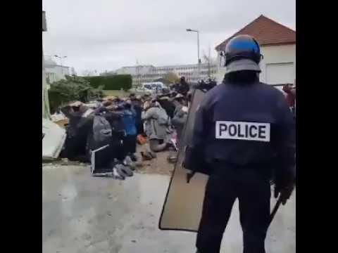 Французская полиция арестовала десятки школьников