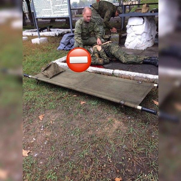 Фото с места трагедии...В воинской части под Князе Волконским молодой парень...