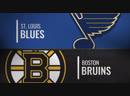 NHL Regular Season 2018 19 St Louis Blues Boston Bruins