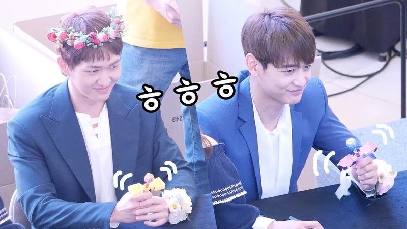 온유ONEW, 민호 MinHo : 츄파츕스 장난감 선물: Edited Fancam : 샤이니 SHINee 팬싸인회 Fansign: Goyang Starfield