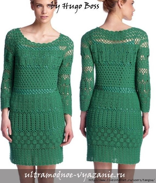 Шикарное платье крючком (8 фото) - картинка