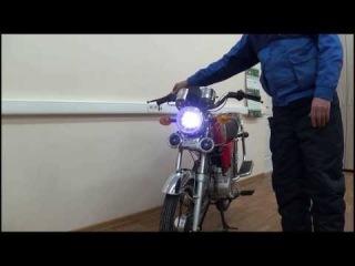 Тюнинг для мопеда Альфа - светодиодная фара с
