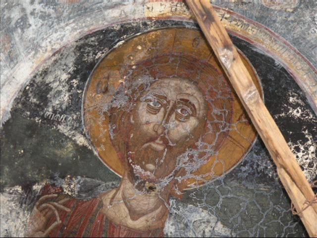 ГРЕЧЕСКИЙ МОНАСТЫРЬ в пустыне Уникальные исчезающие фрески a deserted Greek Byzantine c 1400 AD orthodox monastery