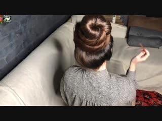 Hair play buns. Bun drop
