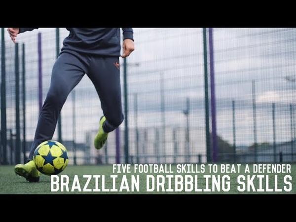 Brazilian Dribbling Skills Tutorial   5 FootballFutsal Moves To Beat A Defender
