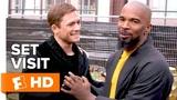 Jamie Foxx &amp Taron Egerton Have Chemistry on Set 'Robin Hood' Set Visit Fandango All Access
