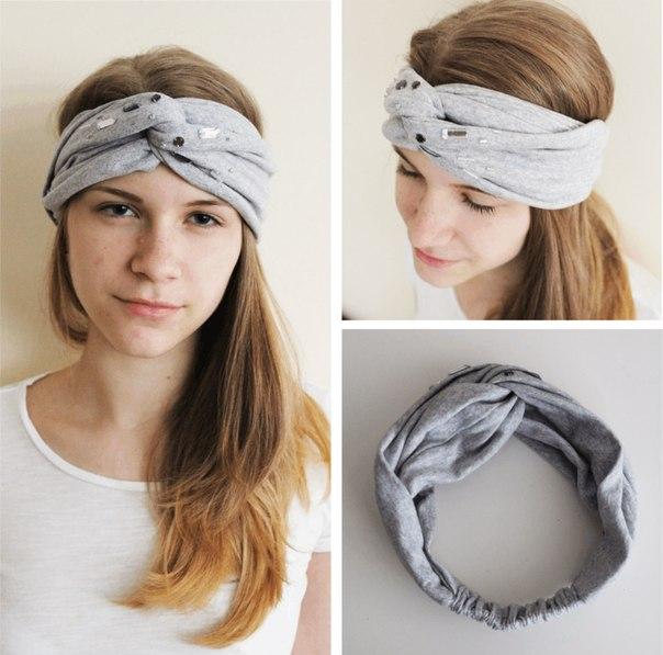 Как сшить теплую повязку на голову своими руками