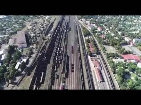 місто Волноваха з висоти пташиного польоту