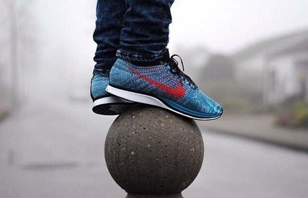 flyknit racer turquoise