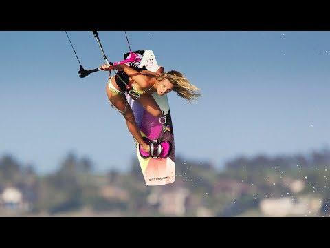 Julia, Jesse Richman Kite Surfing Jaws in Ho'okipa - Maui, Hawaii
