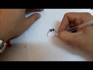 Рисуем Pou Какашку вместе! №6