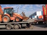 Отгрузка экскаватора погрузчика Fiat Hitachi FB100 2 4PT в г Челябинск