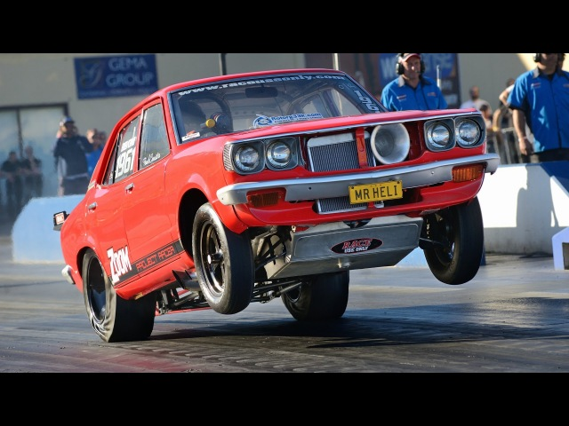 Mazda RX3 tags the wall - MRHELI