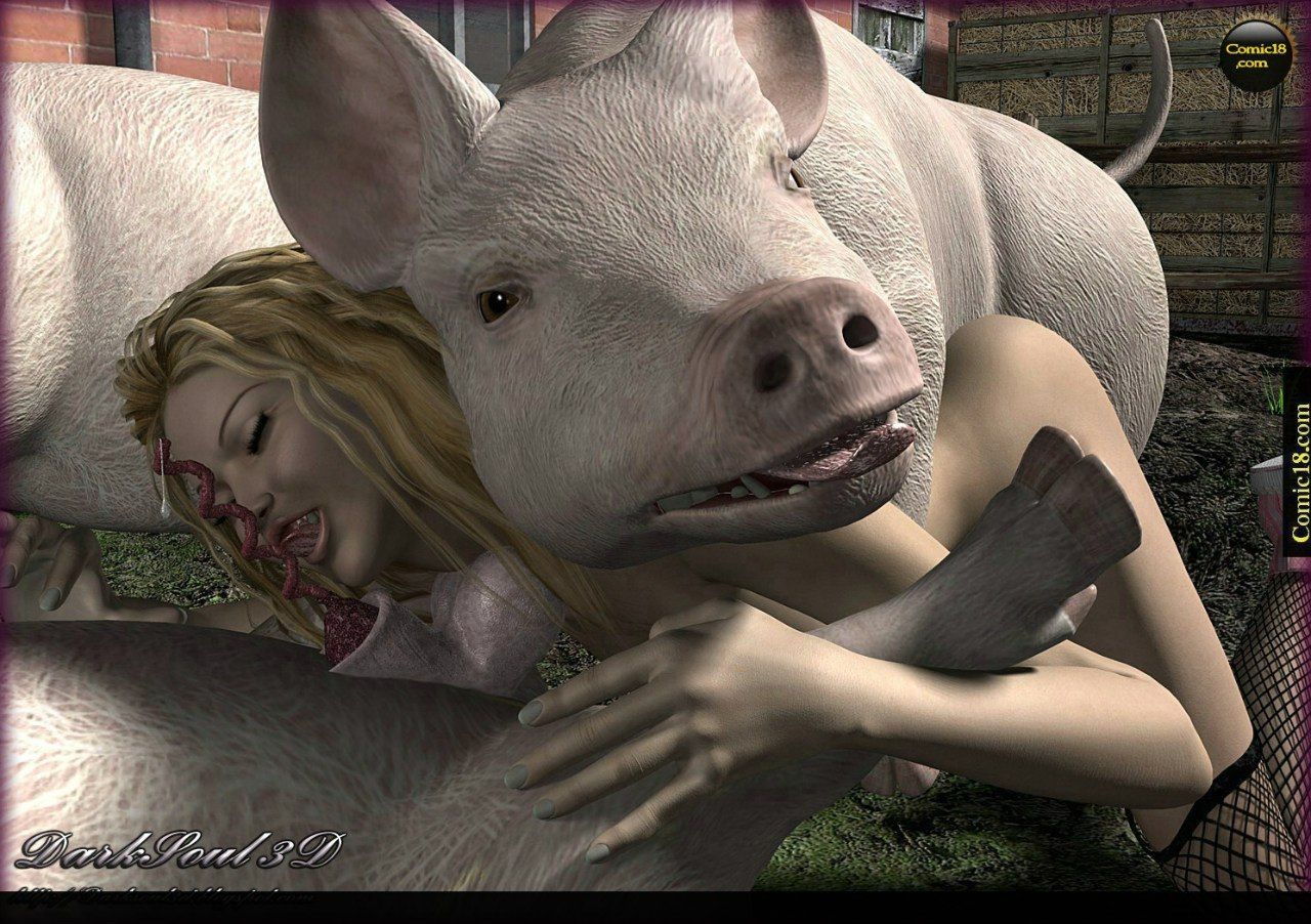 French girls fucking pigs real sex