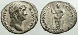 Древнеримские женщины-богини, монеты, Транквиллитас