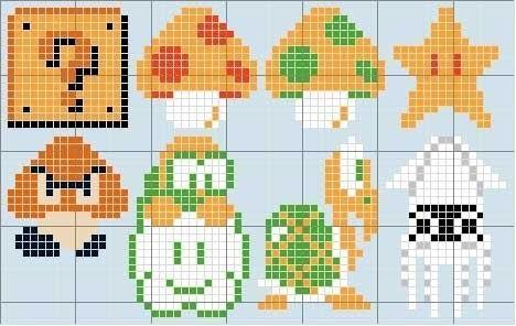 Схемы из игры марио