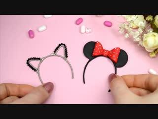 Miniature Hair Hoop with ears for dolls DIY✿ Polymer clay Tutorial (fimo) ✿ Irina Ivanitskaya