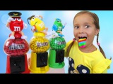 Bad Kid Steals Candy M&ampM's IRL Learn colors with Baby Songs Johny Johny Yes Papa Nursery Rhymes kids