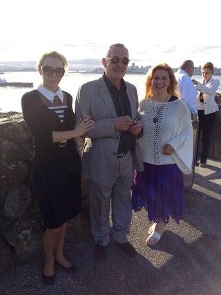 Я, Полина Мегре и Эля Финн на побережье Тихого океана