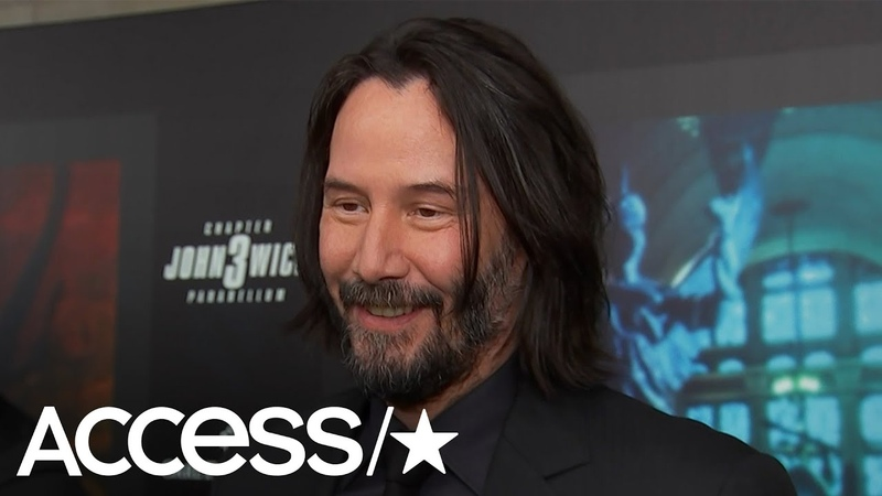 Keanu Reeves Cant Stop Smiling About Halle Berrys Crazy Action Scene In John Wick 3