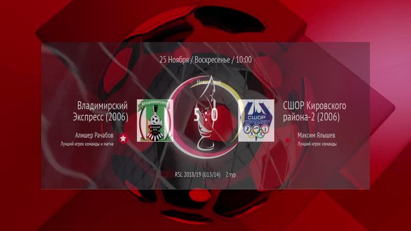 2018.11.25_10-00.Владимирский Экспресс(2006)-СШОР Кировского района-2(2006)
