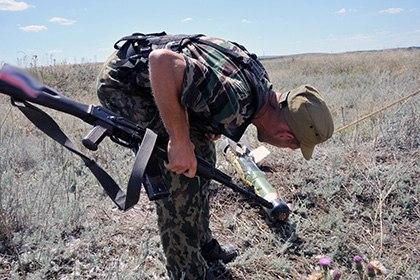 Под Таганрогом найдены фрагменты украинского снаряда системы залпового огня «Смерч»