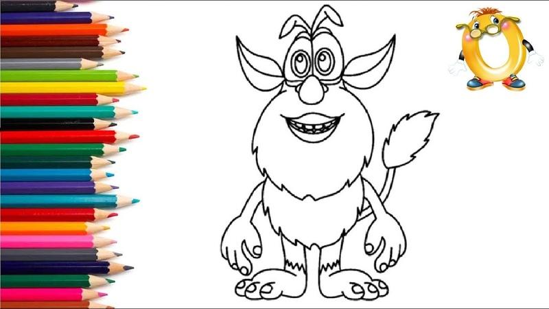 Раскраска для детей ГЕРОИ МУЛЬТИКА Буба.