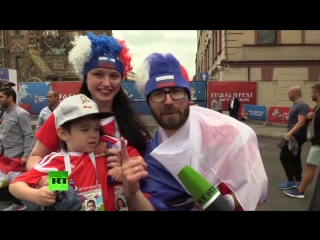 «Мы ведь друзья»: RT пообщался с болельщиками перед матчем Россия — Египет