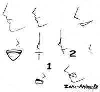 Рисуем нос аниме.