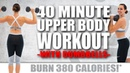 40 Minute UPPER BODY WORKOUT WITH DUMBBELLS 🔥BURN 380 CALORIES!🔥with Sydney Cummings