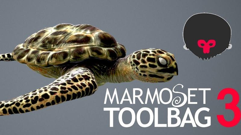 Marmoset Toolbag 3.0 Carey Turtle Skin Shader Tutorial - Part 12