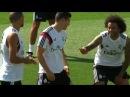 Real Madrid's Signings James Rodriguez Toni Kroos Keylor Navas In Training
