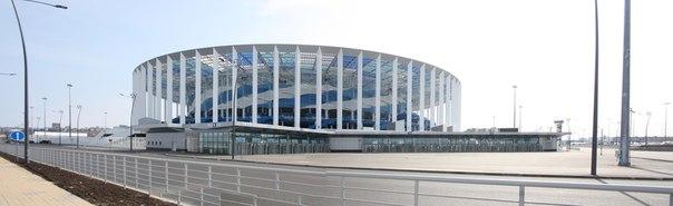 Панорамная фотография нового стадиона  30 апреля 2018