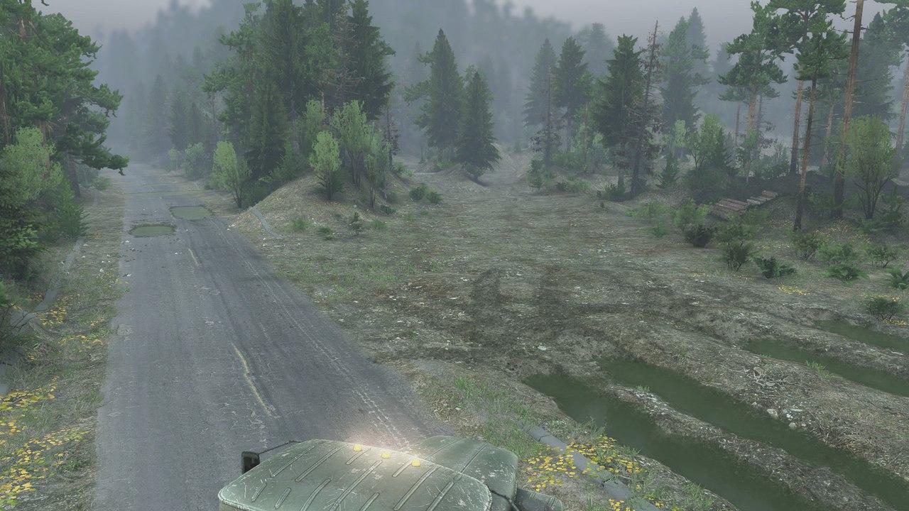 """Карта """"Blackwater Mojave green"""" для последней версии игры. для Spintires - Скриншот 2"""
