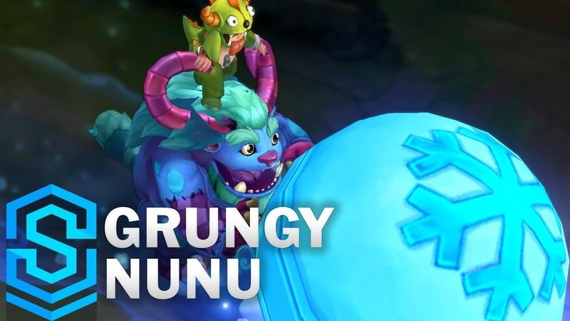 Grungy Nunu 2018 Skin Spotlight Pre Release League of Legends