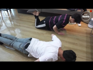 [RUS SUB] [РУС САБ] [BANGTAN BOMB] JK & JINs exercise time - BTS (방탄소년단)