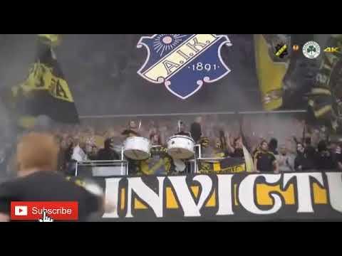 AIK Fans singing 'Åh jag minns den dagen' Oh I remember that day aik