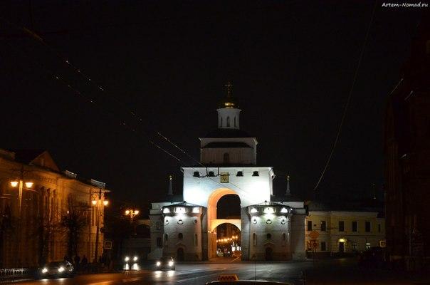 Вечерний Владимир. Золотые ворота.