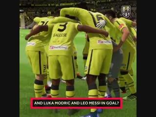 Goalkeepers outfield. Messi and Modric in goal. De Gea scoring screamers. Scenes 🍿