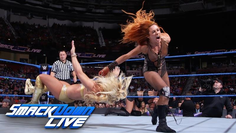 Charlotte Flair Becky Lynch vs. Mandy Rose Sonya Deville SmackDown LIVE, Aug. 14, 2018