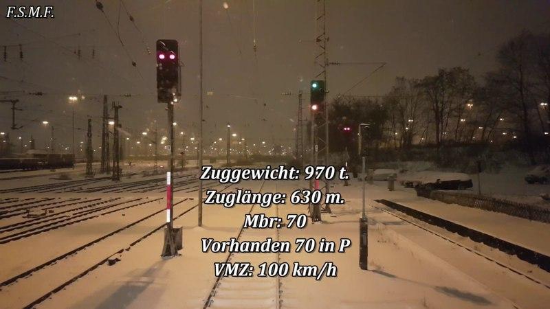 Führerstandsmitfahrt im Schnee von Nürnberg nach Würzburg