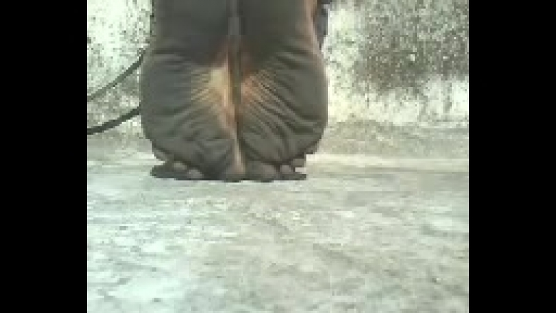 Black soles barefeet and hot